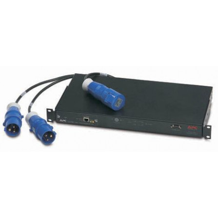 APC AP7722 Rack ATS, 16A, 230V, (2)IEC 309 in, (1)IEC 309 out