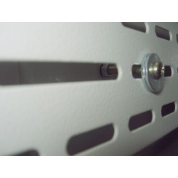 Internal secured side panel Locked in postion by Screw and nut (Internal View)