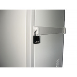 Security Bar & Padlock on Door