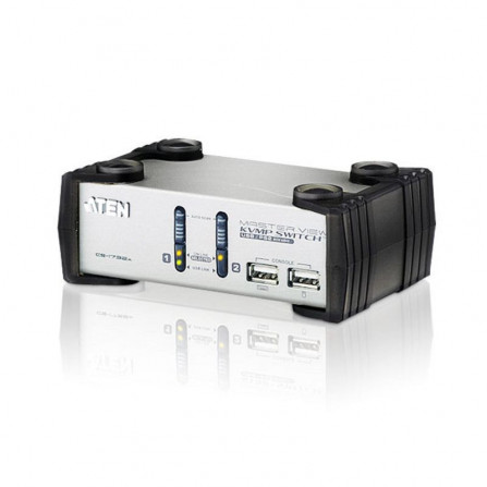 Aten CS1732A 2-Port PS2 USB VGA Audio KVMP Switch