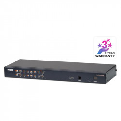 Aten KH1516A 16-Port Cat 5 KVM Switch with Daisy-Chain Port