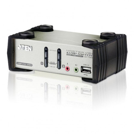Aten CS1732B 2-Port PS2-USB VGA Audio KVMP Switch with OSD