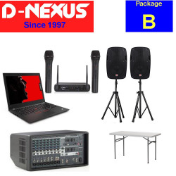 Rental Package B: [Sound system + Notebook + 2 Mics]