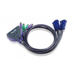 Aten CS62S 2-Port PS2 mini KVM Switch (0.9m Built in cable)