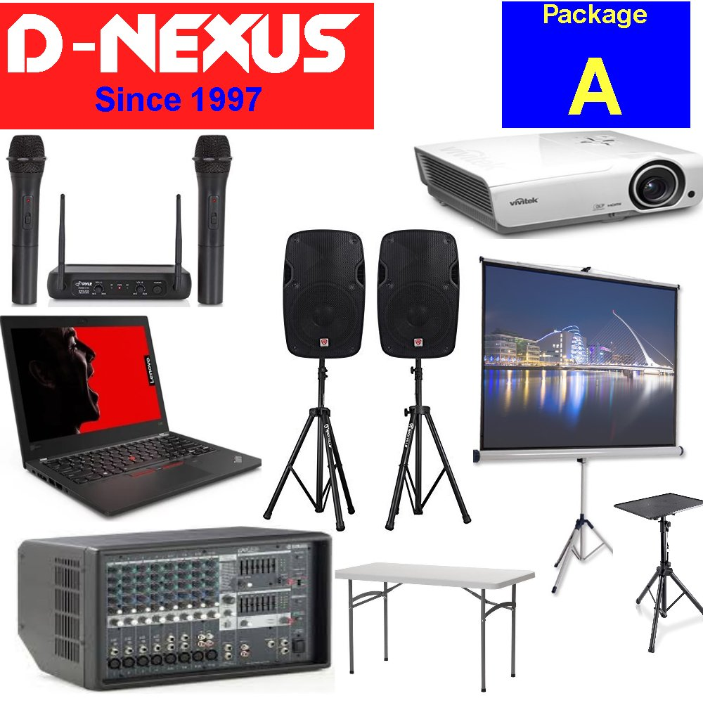 D-NEXUS AV sound and video rental Package A